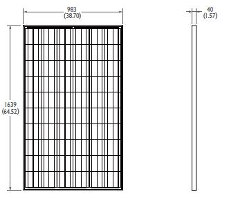 Fotovoltaický panel BenQ AUO 260W.